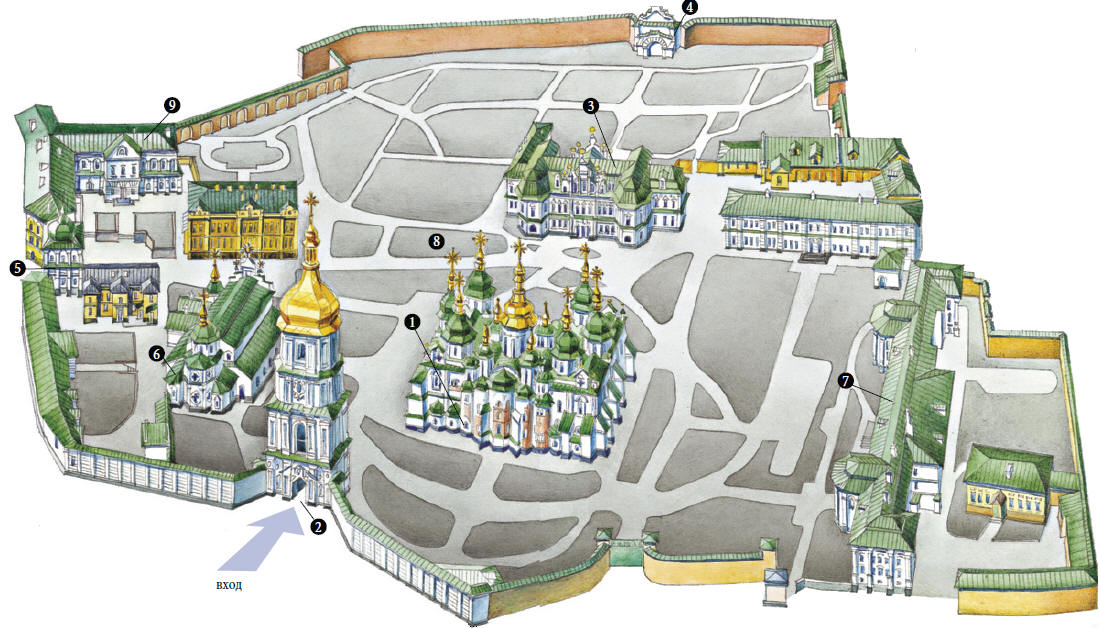 Схема линий и станций метро