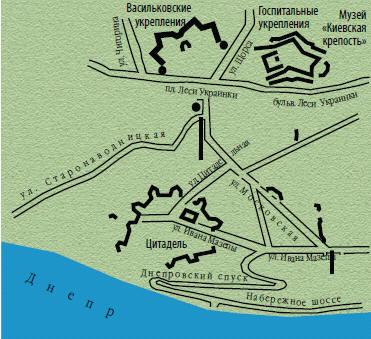 План-схема Печерской крепости